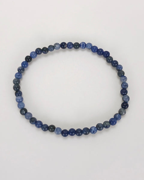 Sodalite Mini 4mm Gemstone Bracelet