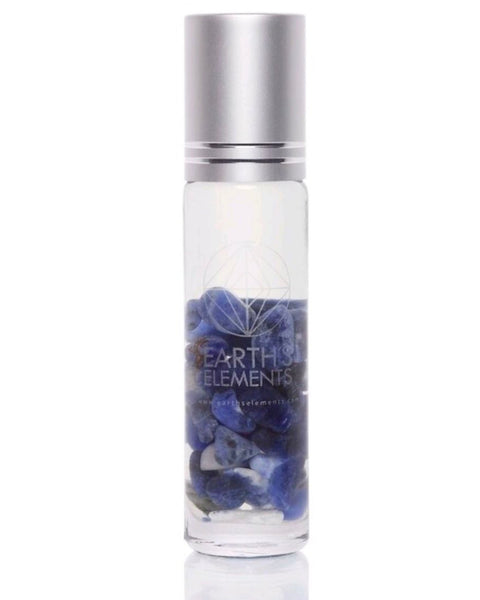 Sodalite Essential Oil Gemstone Roll On - FOCUS