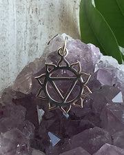 Sterling Silver Solar Plexus Chakra Necklace  - INNER GUIDANCE
