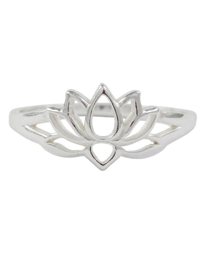 SOUL EXPANSION - Sterling Silver Lotus Ring