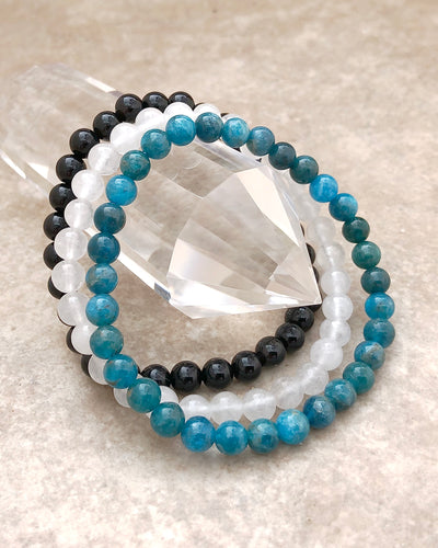 6mm Gemstone Bracelet Set for Spiritual Growth