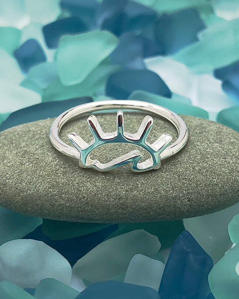 Sun and Sea Sterling Silver Ring