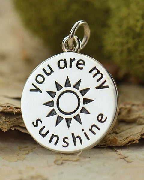 Sterling Silver You are My Sunshine Necklace