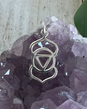 Sterling Silver Third Eye Chakra Necklace - SOUL VISION