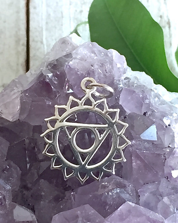 Sterling Silver Throat Chakra Necklace  - EXPRESS YOUR TRUTH