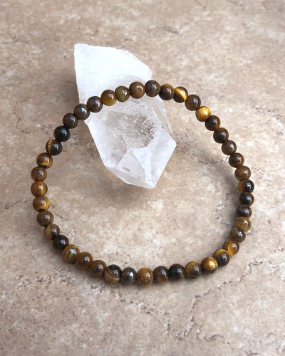 Children's Size Tiger Eye 4mm Gemstone Bracelet