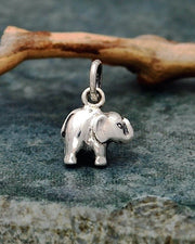 Small Silver Elephant Necklace - GENTLE STRENGTH