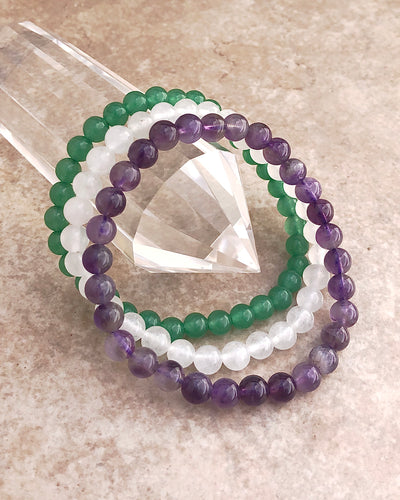 Tranquility 6mm Gemstone Bracelet Set