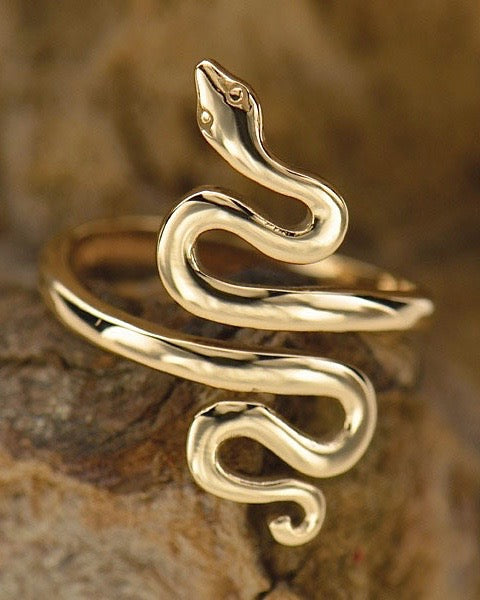 Bronze Adjustable Serpent Ring - TRANSFORM & RENEW