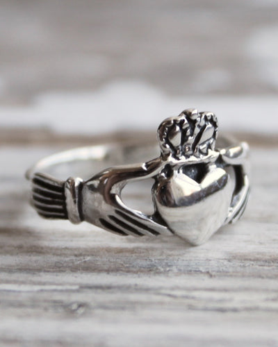 Sterling Silver Claddagh Ring-YOU HOLD MY HEART