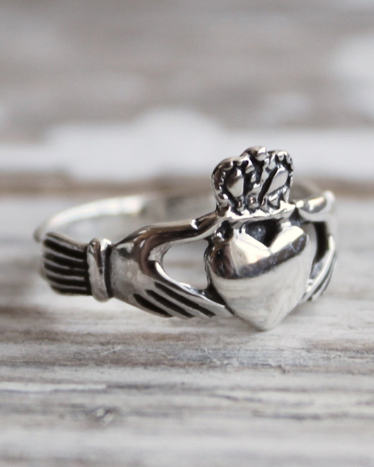 YOU HOLD MY HEART - Sterling Silver Claddagh Ring