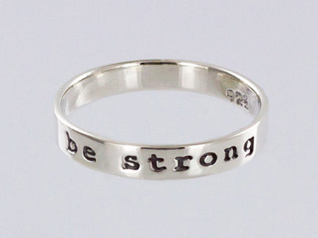 Sterling Silver Be Strong Ring