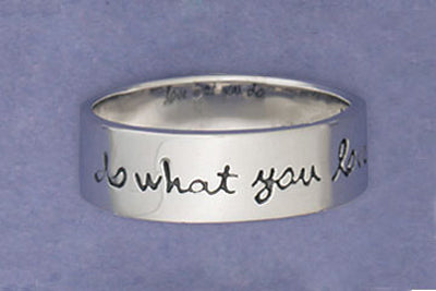 Sterling Silver Do What You Love Ring