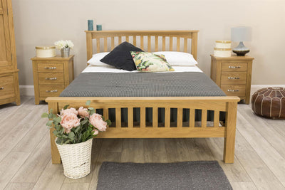 Boston Solid Oak Bed Frame - 5ft King Size - The Oak Bed Store