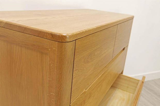 Canterbury Natural Oak 4 Drawer Chest of Drawers - The Oak Bed Store