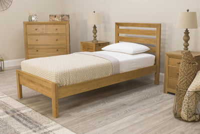 Kensington Solid Oak Bed Frame 3ft - Single - The Oak Bed Store