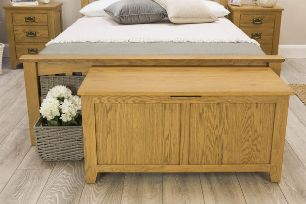 Boston Rustic Solid Oak Bed Frame - 6ft Super King - The Oak Bed Store