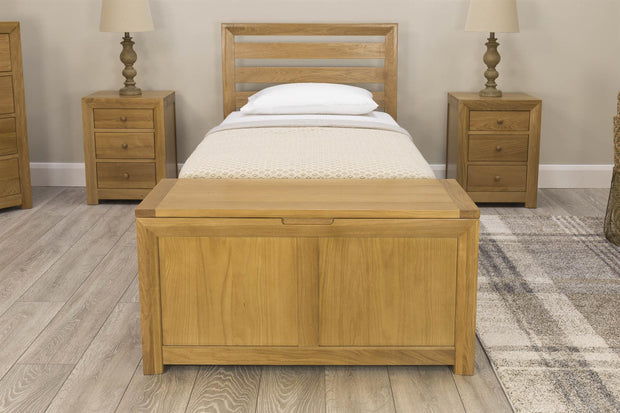 Kensington Natural Oak Blanket Box - The Oak Bed Store