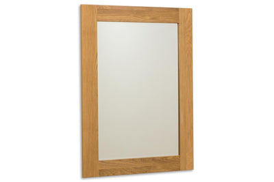 Solid Oak Wall Hung Mirror (69cm x 94cm) - The Oak Bed Store