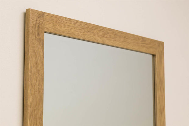 Solid Oak Wall Hung Mirror (73cm x 103cm) - The Oak Bed Store