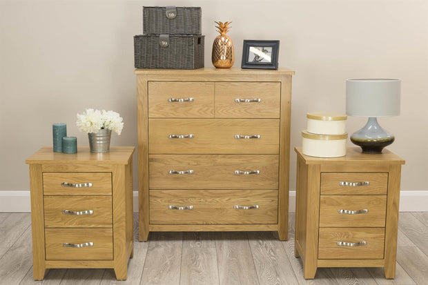 Boston Solid Oak 4 Drawer Chest of Drawers - The Oak Bed Store