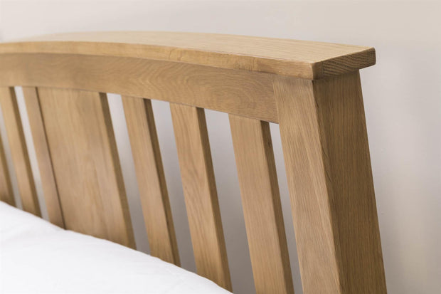 Royal Ascot Solid Oak Storage Bed Frame - 5ft King Size - The Oak Bed Store