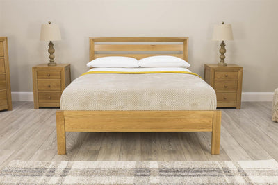 Kensington Solid Oak Bed Frame 5ft - King Size - The Oak Bed Store