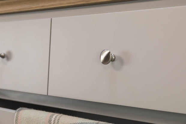 Westcott Light Grey & Oak 4 Drawer Chest of Drawers - The Oak Bed Store