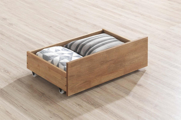 Medium Oak Under Bed Drawer - The Oak Bed Store