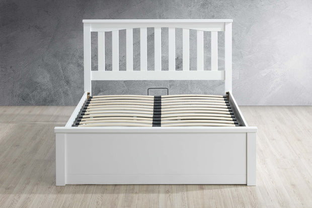 Alexander White Ottoman Storage Bed Frame - 5ft King Size - The Oak Bed Store