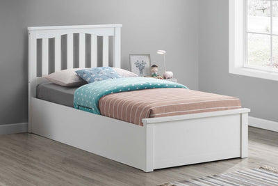 Alexander White Ottoman Storage Bed Frame - 3ft Single