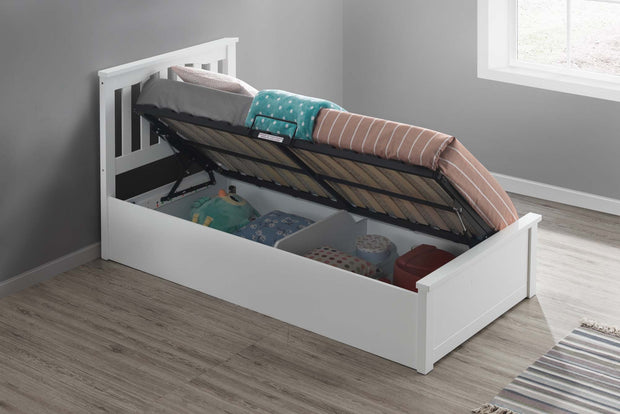 Alexander White Ottoman Storage Bed Frame - 3ft Single - The Oak Bed Store
