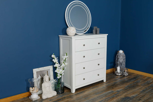 Boston Soft White 4 Drawer Chest of Drawers