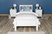Boston Soft White Solid Wood Bed Frame - 3ft Single