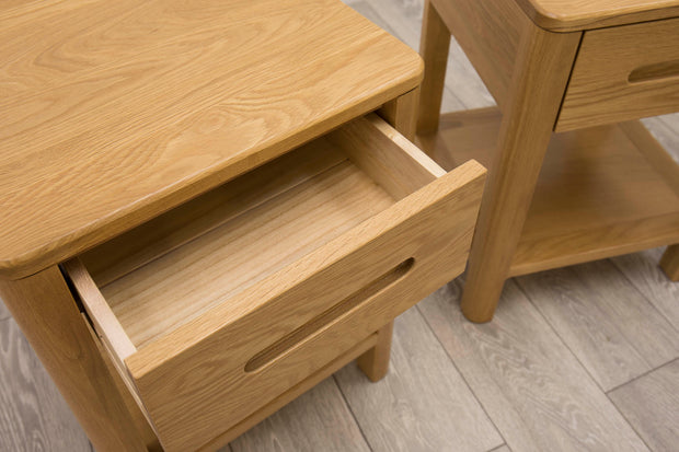 Canterbury Natural Oak High Drawer Night Stand - The Oak Bed Store