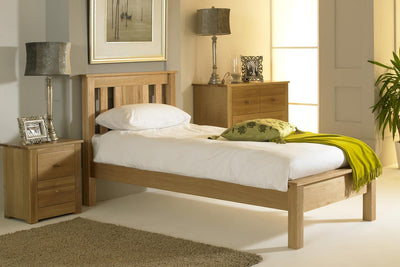 Cavendish Solid Oak Bed Frame 3ft - Single - The Oak Bed Store