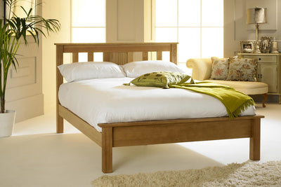 Cavendish Solid Natural Oak Bed Frame 4ft6 - Double - The Oak Bed Store