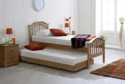 Chelsea Solid Oak Guest Bed - 2ft6 Small Single - The Oak Bed Store