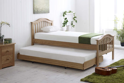 Chelsea Solid Oak Guest Bed - 3ft Single - The Oak Bed Store