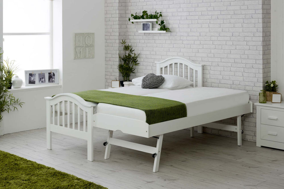 Chelsea White Solid Wood Guest Bed 2ft6 Small Single