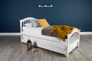 Chelsea Soft White Solid Wood Guest Bed - 3ft Single - The Oak Bed Store