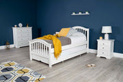 Chelsea White Solid Wood Guest Bed - 3ft Single - The Oak Bed Store