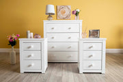 Chester White 2+1 Bedside Table - The Oak Bed Store