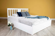 Chester Bright White Ottoman Storage Bed Frame - 6ft Super King - The Oak Bed Store