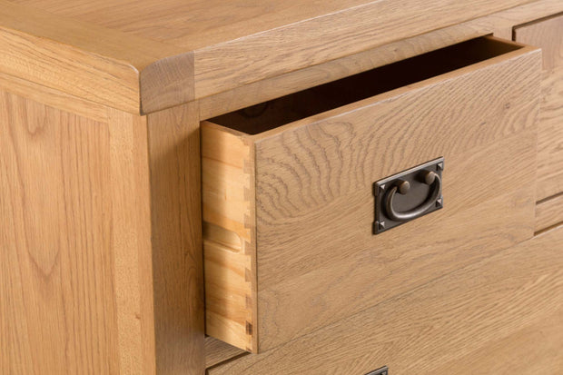 Cotswold Natural Oak 2 Over 3 Chest of Drawers - The Oak Bed Store