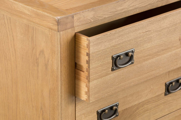 Cotswold Natural Oak 3 Drawer Chest of Drawers - The Oak Bed Store