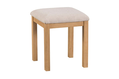 Cotswold Natural Oak Dressing Table Stool - The Oak Bed Store