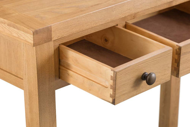 Cotswold Natural Oak 3 Drawer Dressing Table - The Oak Bed Store