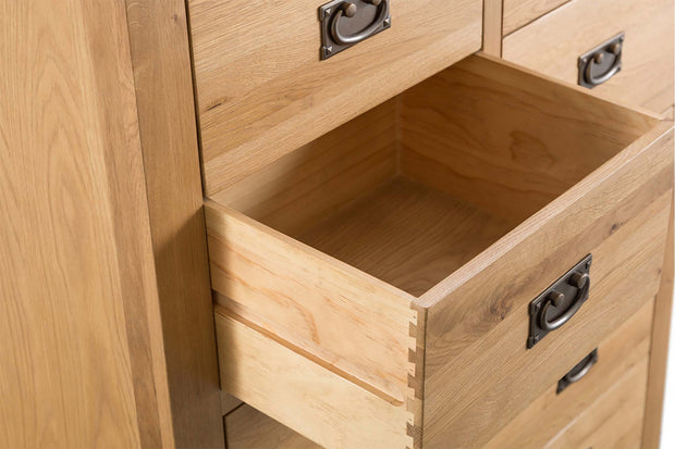 Cotswold Natural Oak 4 Over 3 Chest of Drawers - The Oak Bed Store
