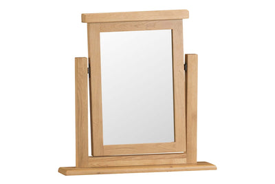 Cotswold Natural Oak Dressing Table Trinket Mirror - The Oak Bed Store